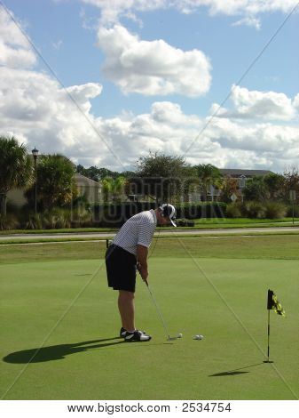 Golfer On Green!!