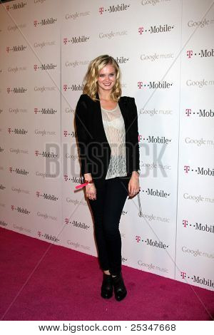 LOS ANGELES - NOV 16:  Sara Paxton arrives at the Google Music Launch at Mr. Brainwash Studio on November 16, 2011 in Los Angeles, CA
