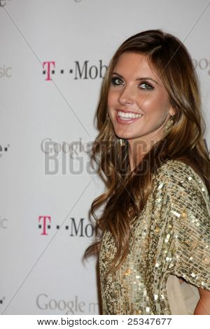 LOS ANGELES - NOV 16:  Audrina Patridge arrives at the Google Music Launch at Mr. Brainwash Studio on November 16, 2011 in Los Angeles, CA