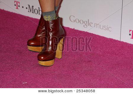 LOS ANGELES - NOV 16:  Jamie Chung arrives at the Google Music Launch at Mr. Brainwash Studio on November 16, 2011 in Los Angeles, CA