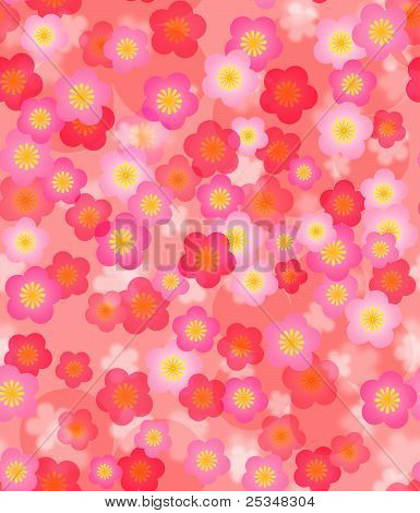Spring Time Cherry Blossom Seamless Tile Background
