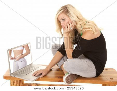 Woman Envious Of Woman On Computer