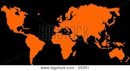 World Map - Glow