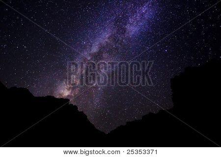 Milky Way Galaxy, Amazing Stars in Night Sky