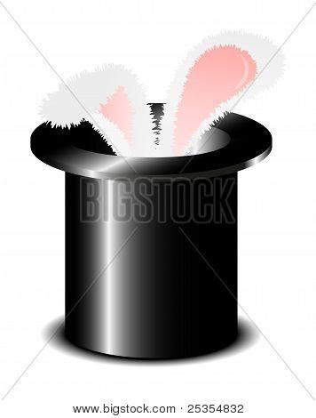 Magic hat with rabbit ears