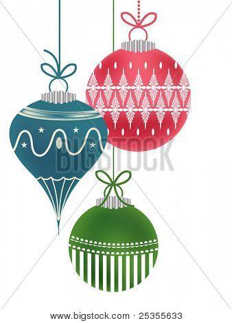 Isolated retro ornaments