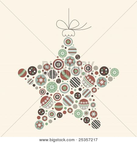 Abstract Christmas Star Vector