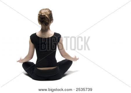 Woman On White Background