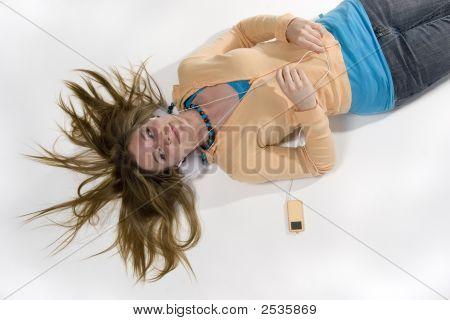 Girl Listening To Music