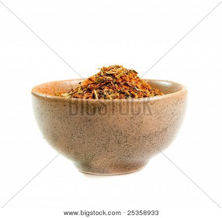 spices in a ceramic bowl