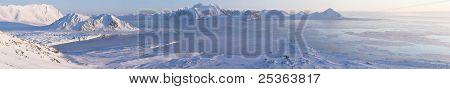 Arktische Winterlandschaft - Panorama