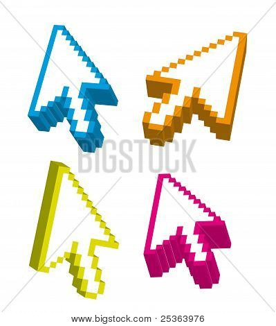 3d arrows cursors