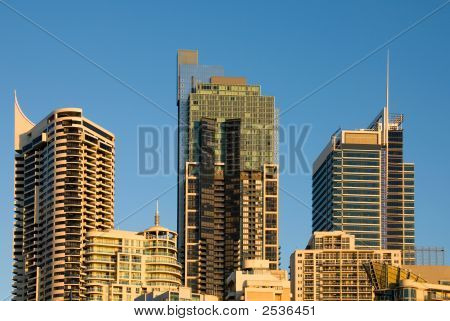 City Buildings At Dusk