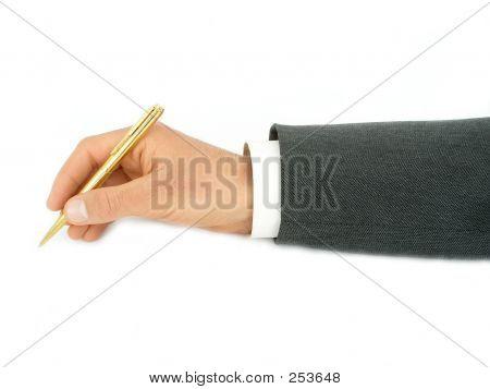 Caneta de exploração de mão do empresário