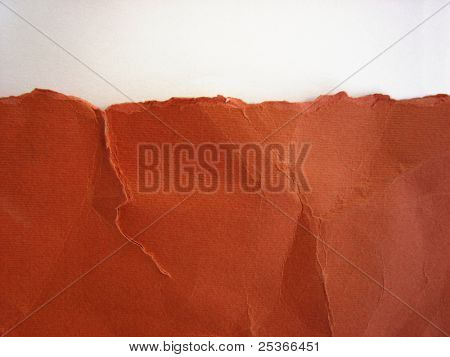 red paper background