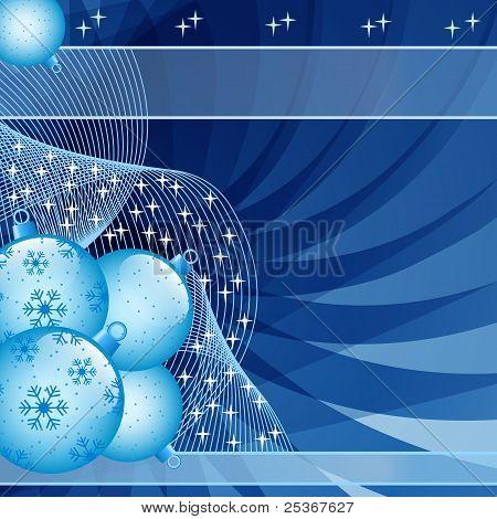 Blue Christmas Balls Abstract