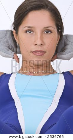 Aerobics Girl Portrait