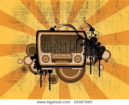 alte Mode-Radio-Vektor-illustration