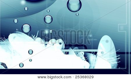 SF underwater- aquatic abstract background