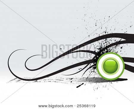 hi-tech abstract grunge vector background with graphic elements