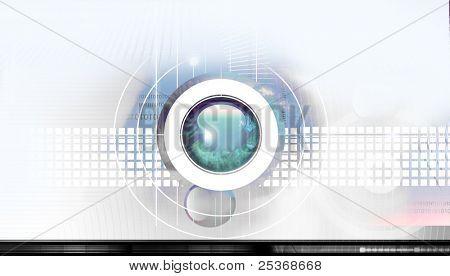 Conceito científico e alta tecnologia. fundo abstrato tecnologia