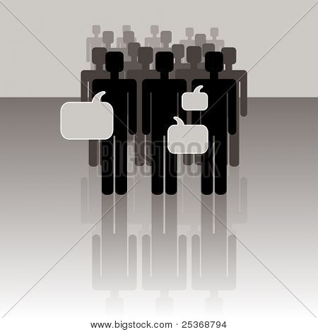 group of people talking, vector illustration. Communication concept