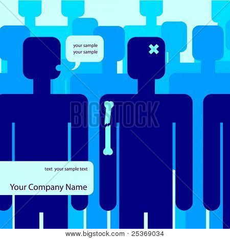 person who needs medical help with tags for your text, abstract vector illustration