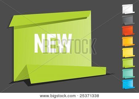 sale tag label origami