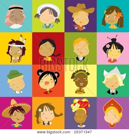 multicultural children of the world