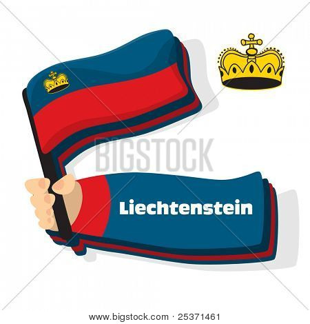 Flag of Liechtenstein icon, vector flags of europe series.