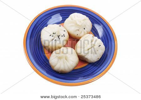Plate Of Chinese Meat Dumplings