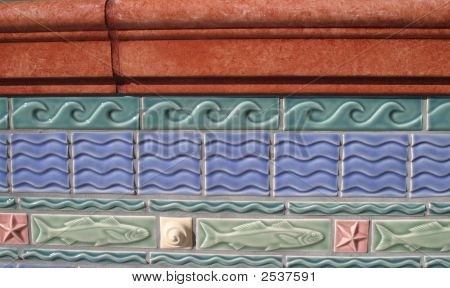 Tile Work On An Old Building