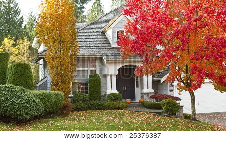 Residential Home During Fall Season