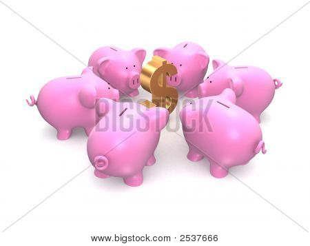 Piggies And Dollar
