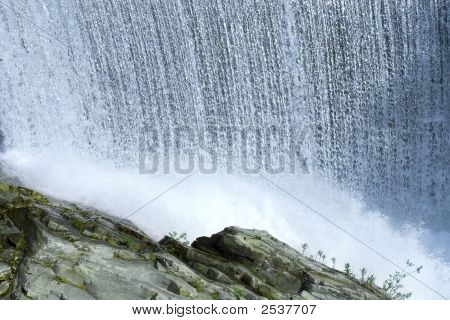 Waterfall In The Wild Nature