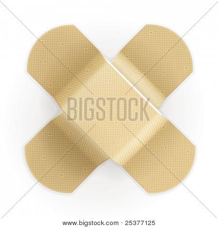 Adhesive bandage, vector