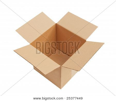 Cardboard box, isolated