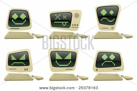 Retro Computer Icons Set One