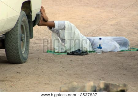 Arabian Man-Driver Sleeping