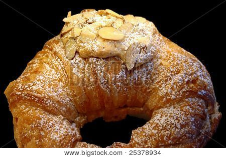 Marzipan filled croissant