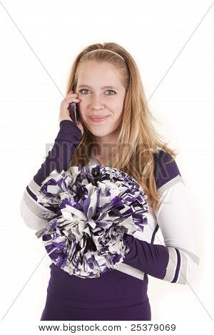 Cheerleader Smile On Phone