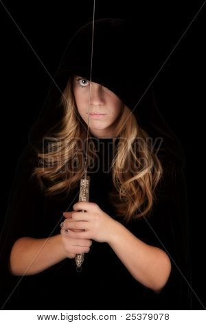 Girl Cloak Sword