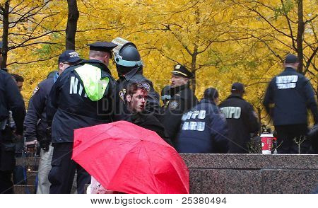 Occupy Wall Street's Bloody Face