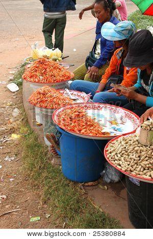 Merchant At O-smach Thai - Combodia Border