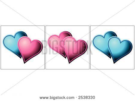 Valentines Herzen