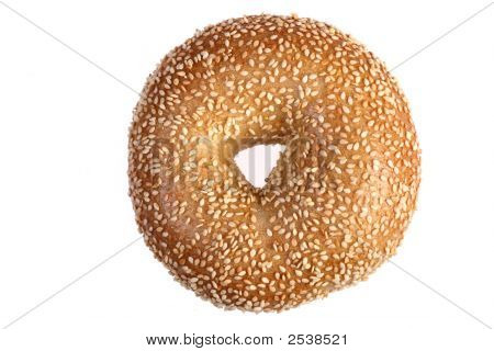 Sesame Bagel Isolated