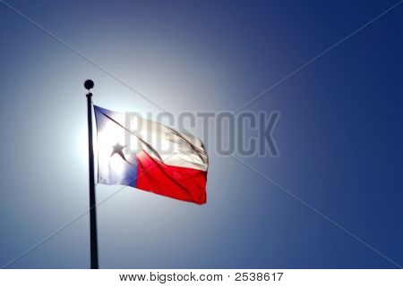 Texas Flag With Backlighting