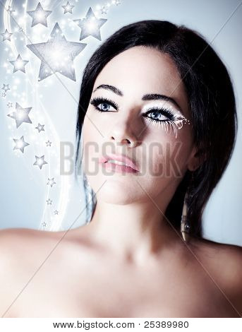 Snow Queen, Beautiful Woman In Christmas Style