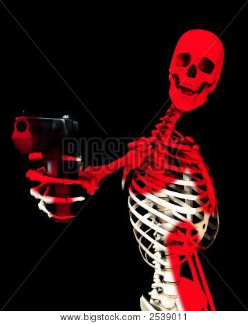 Skeleton And Gun
