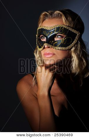 Beautiful Female Wearing Mask
